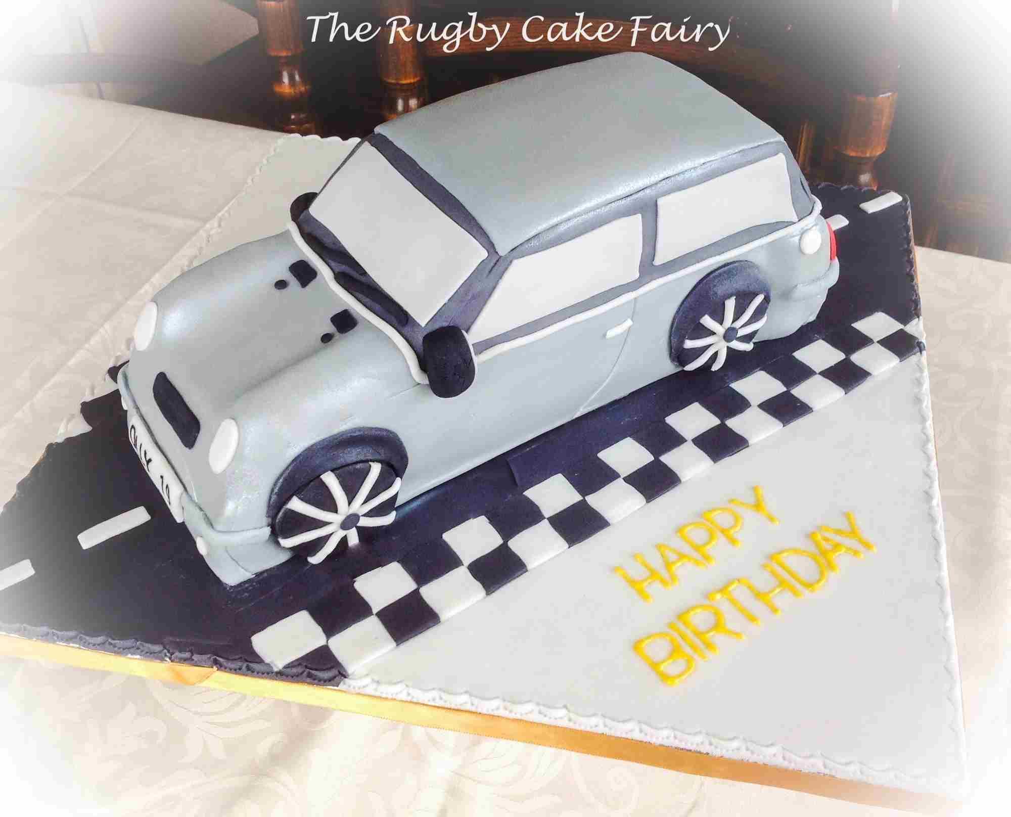 mini cooper cake 1