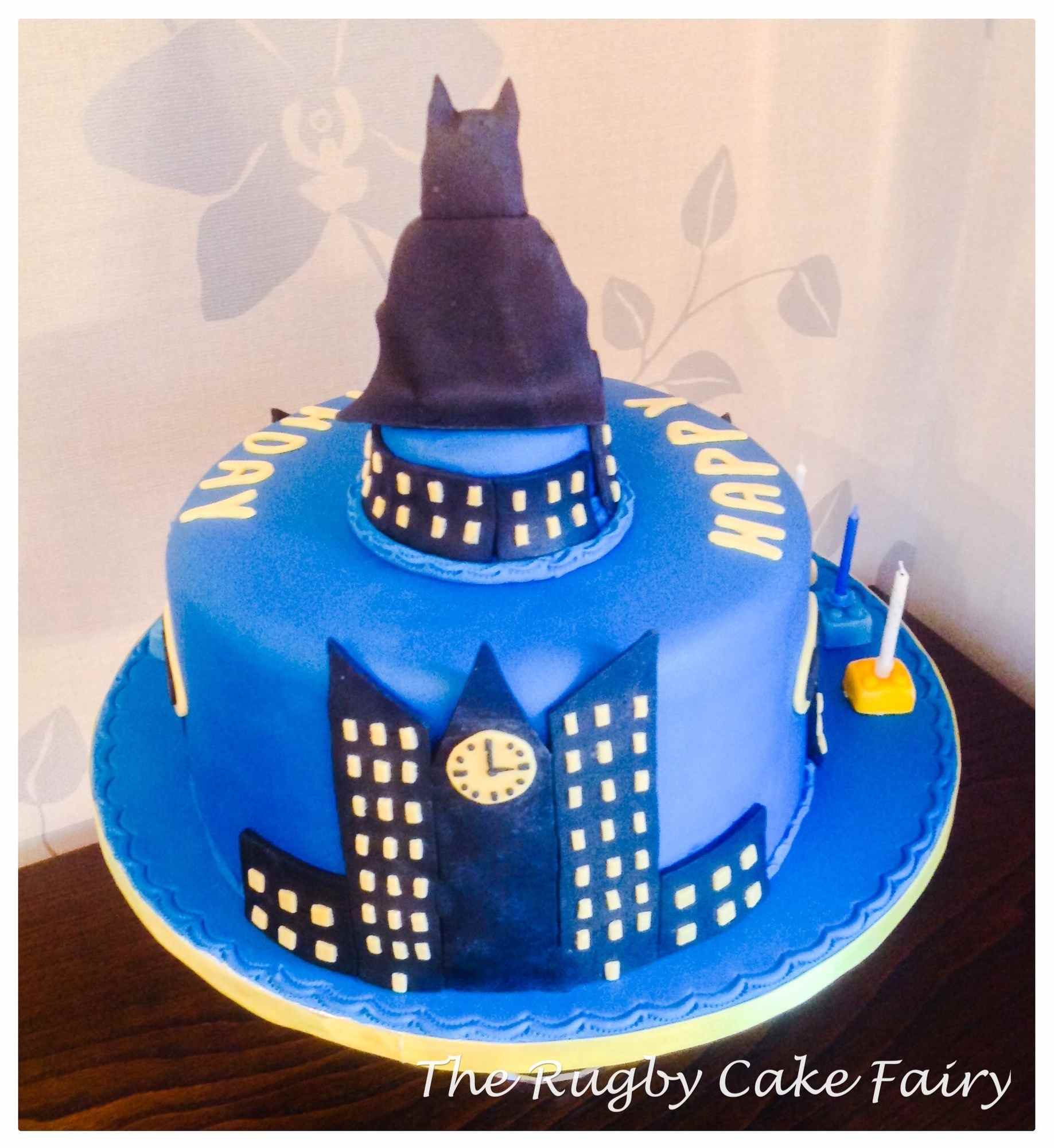 batman cake rear