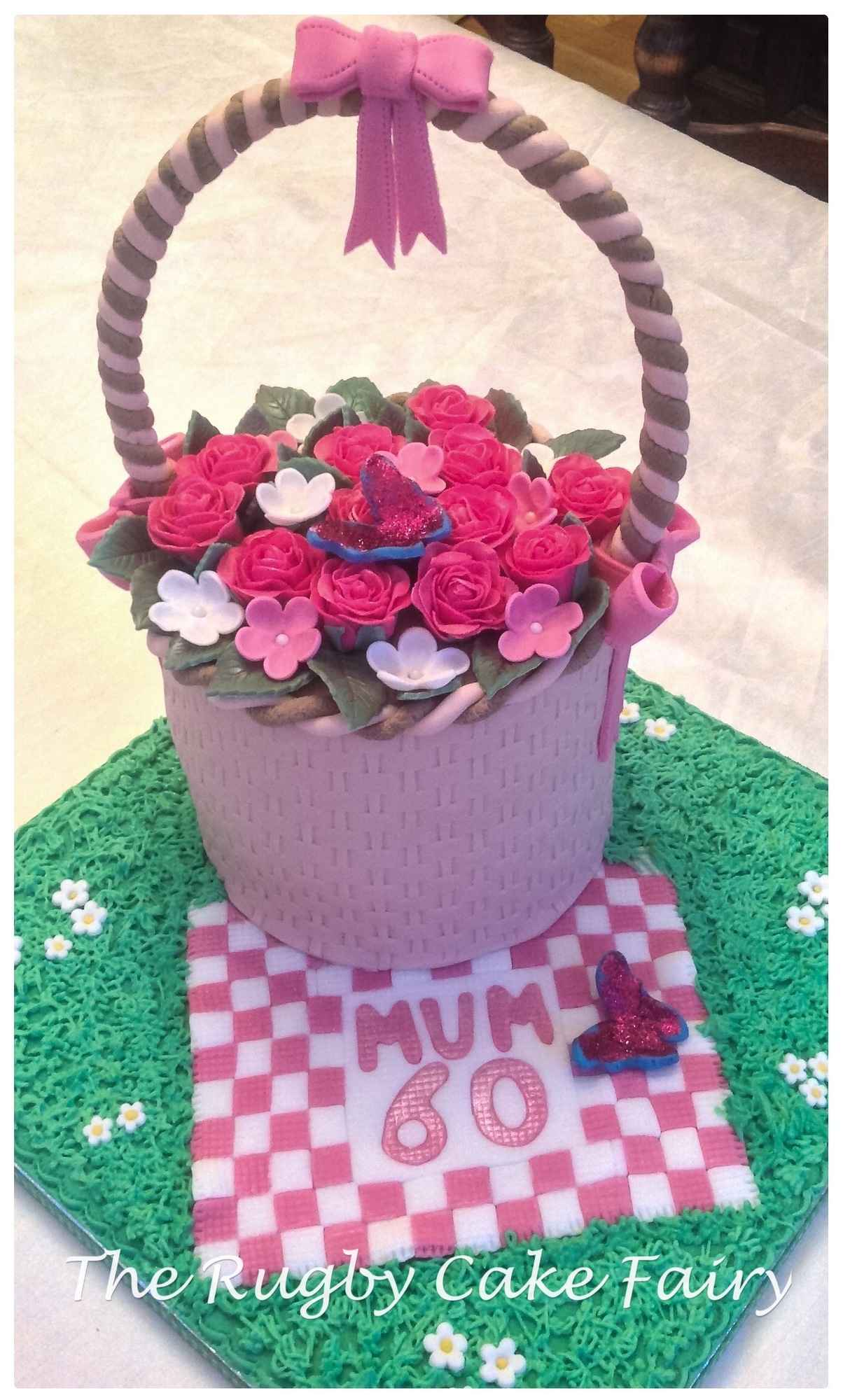 60th flower basket