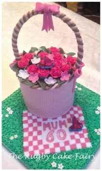 60th flower basket