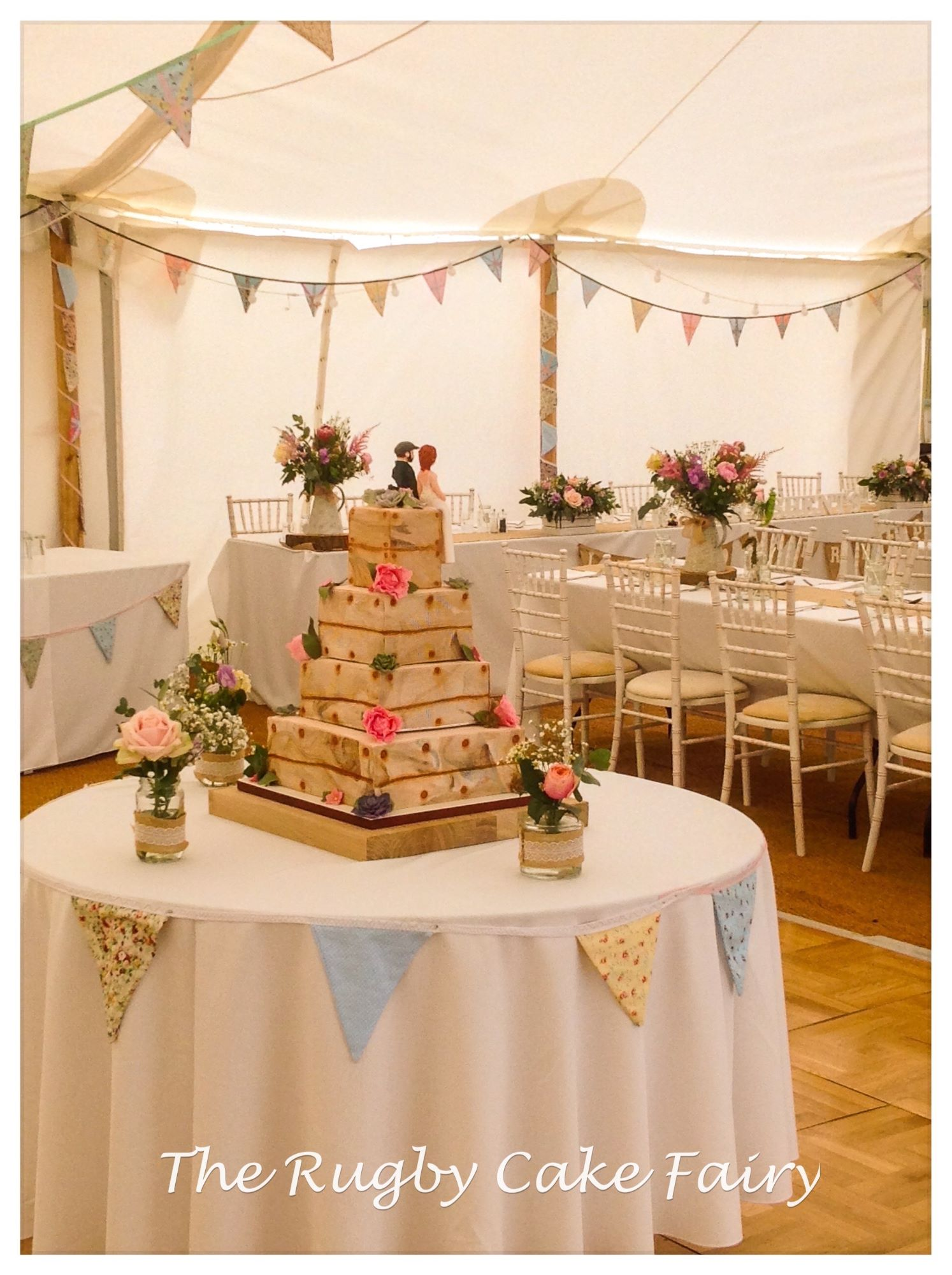 lemon crate wedding cake rear view venue