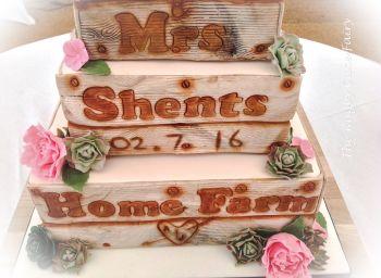 lemon crate wedding cake 3 tiers