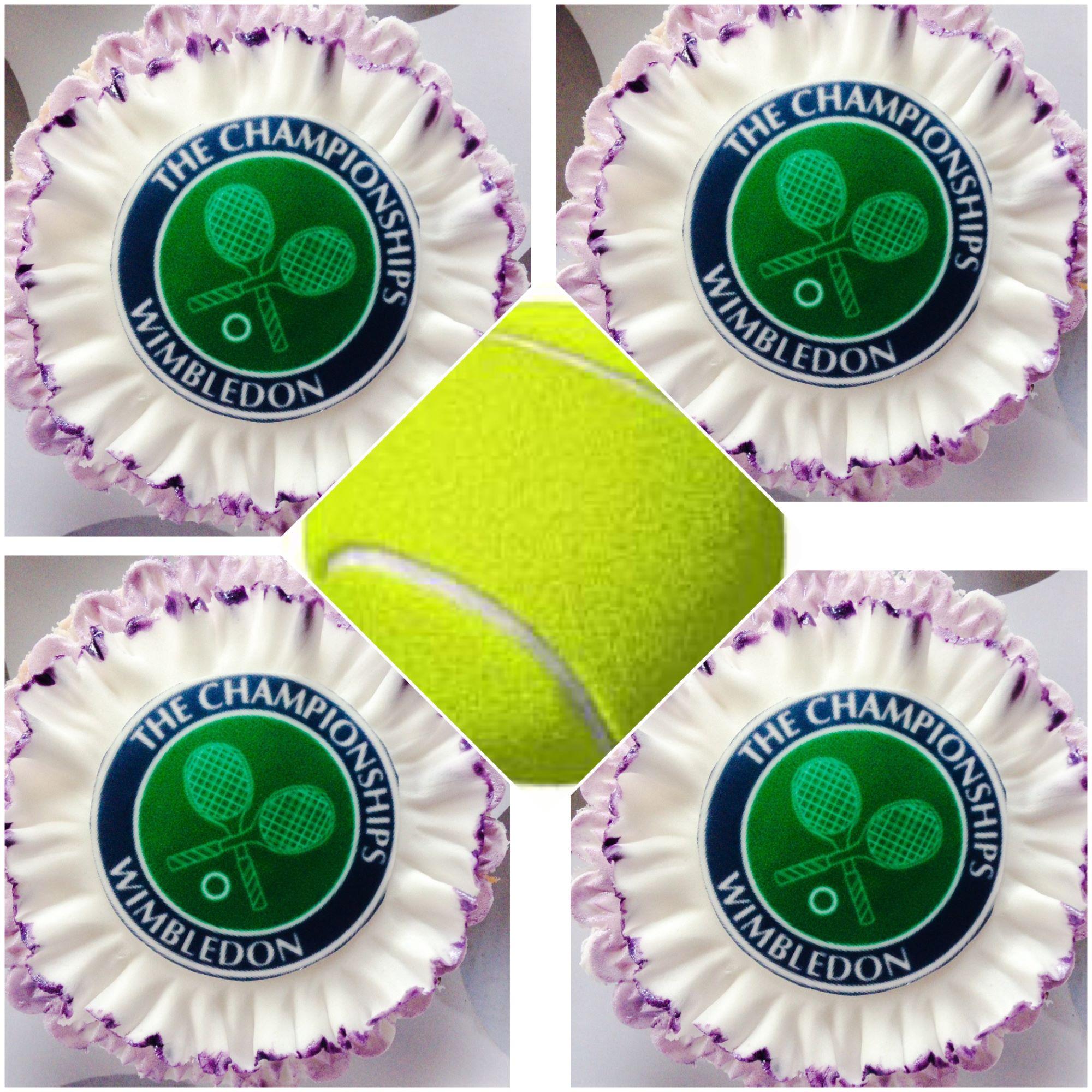 Wimbledon cupcakes and tennis ball