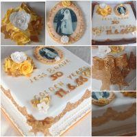 golden wedding anniversary collage