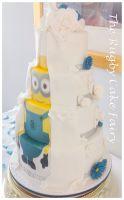 minion wedding cake side curtain