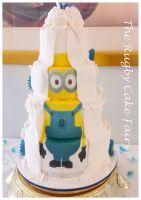 minion back wedding cake