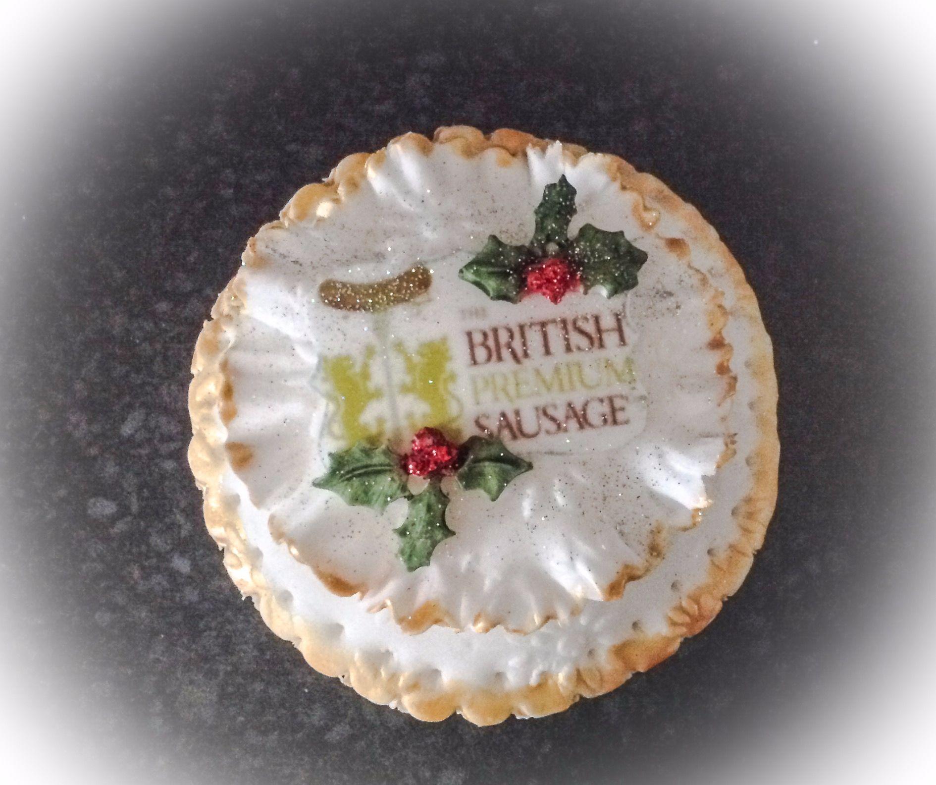 british premium sausage cupcake