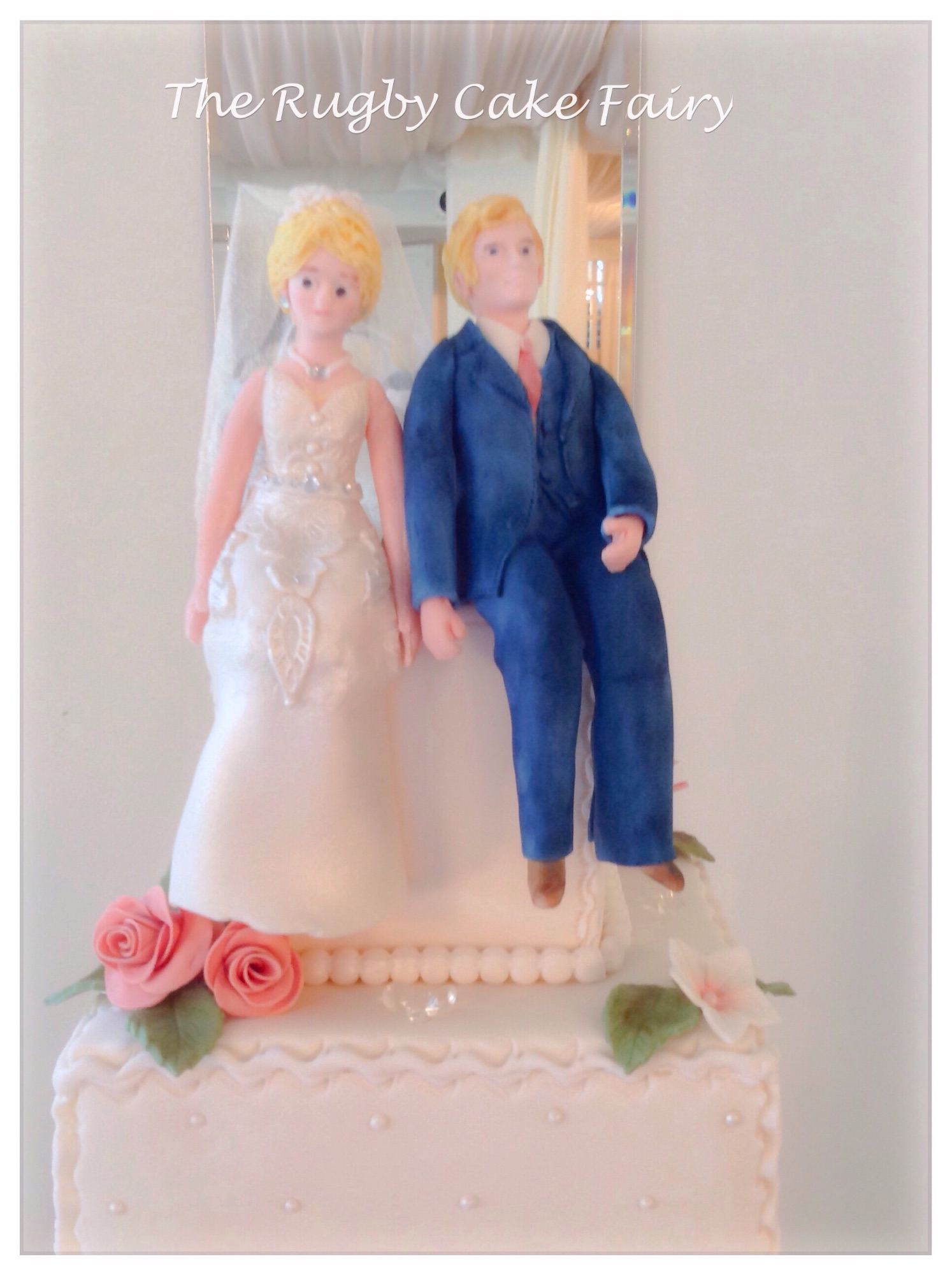 sitting figurine cake topper