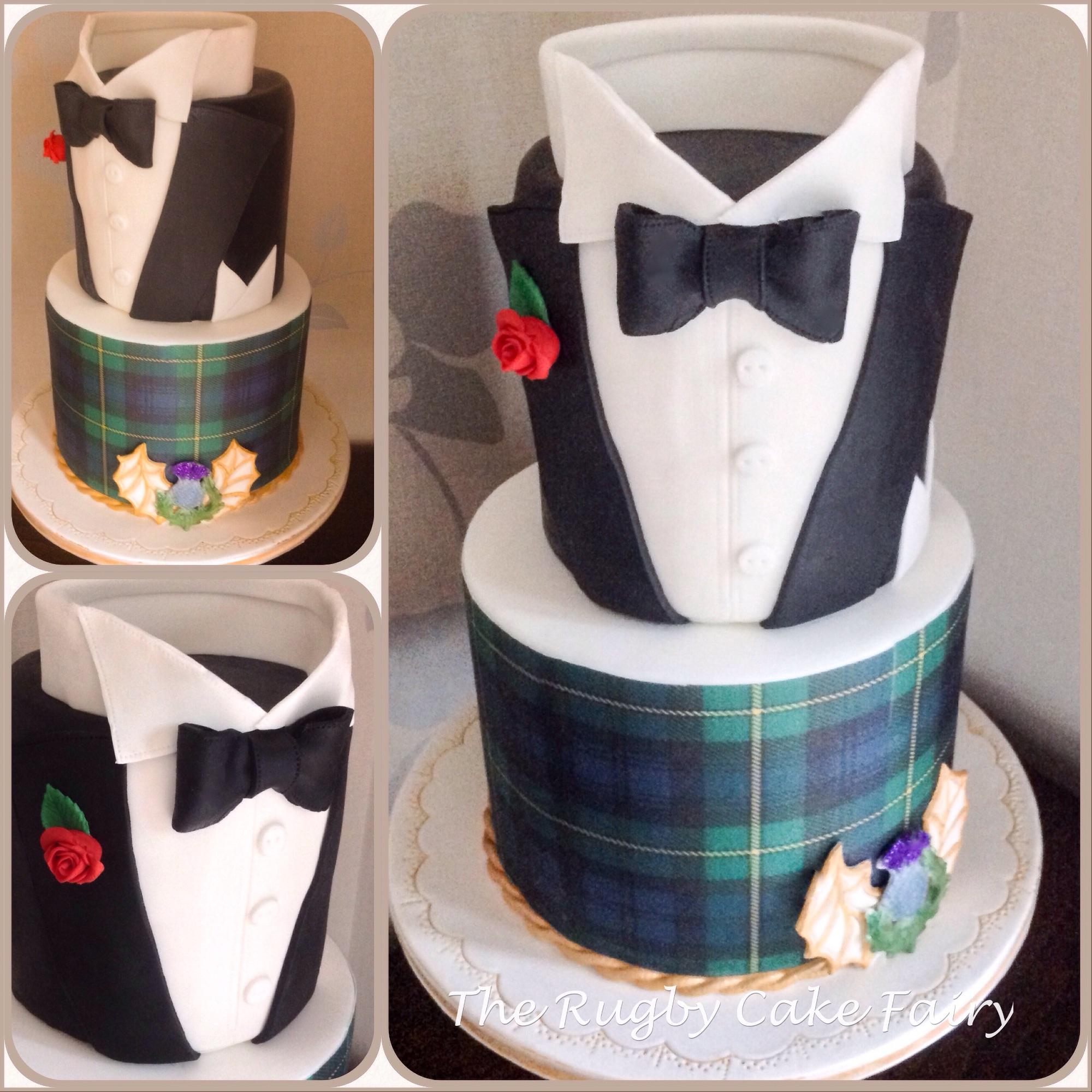 tuxedo cake collage