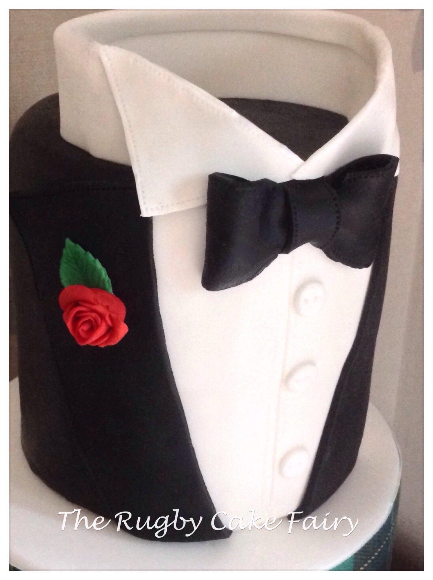 tuxedo cake top
