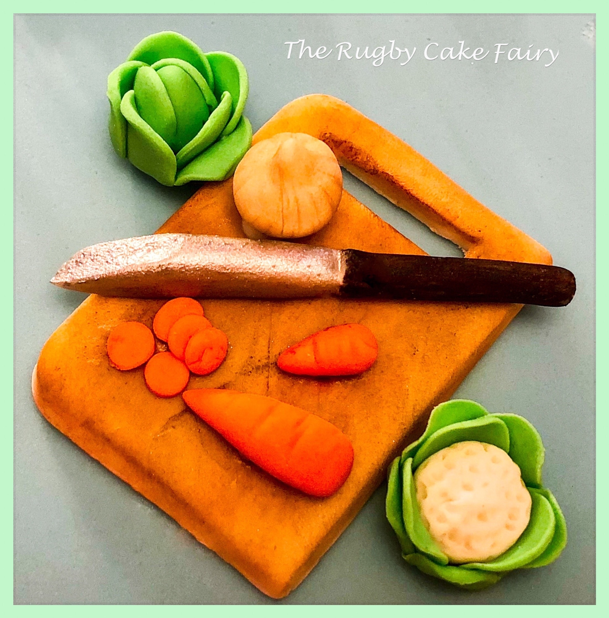 vegetables and cutting board