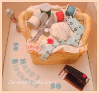sewing basket top view