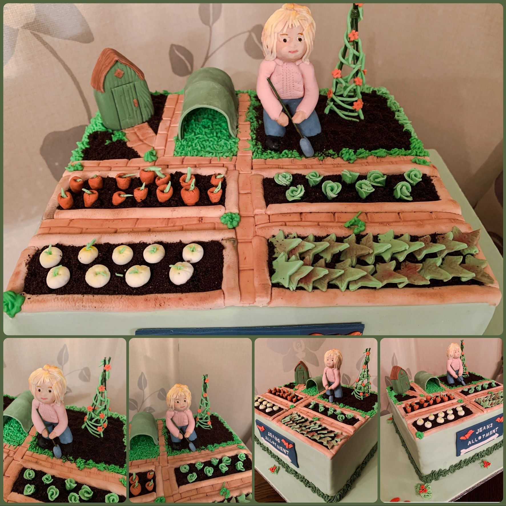 allotment cake collage