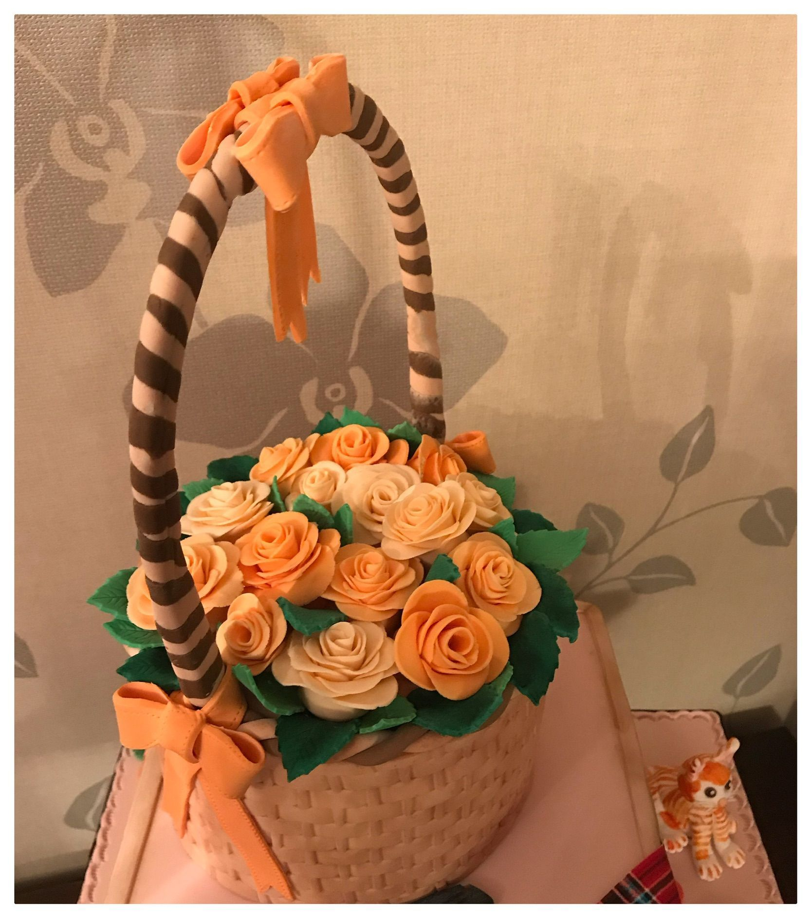 apricot flower basket
