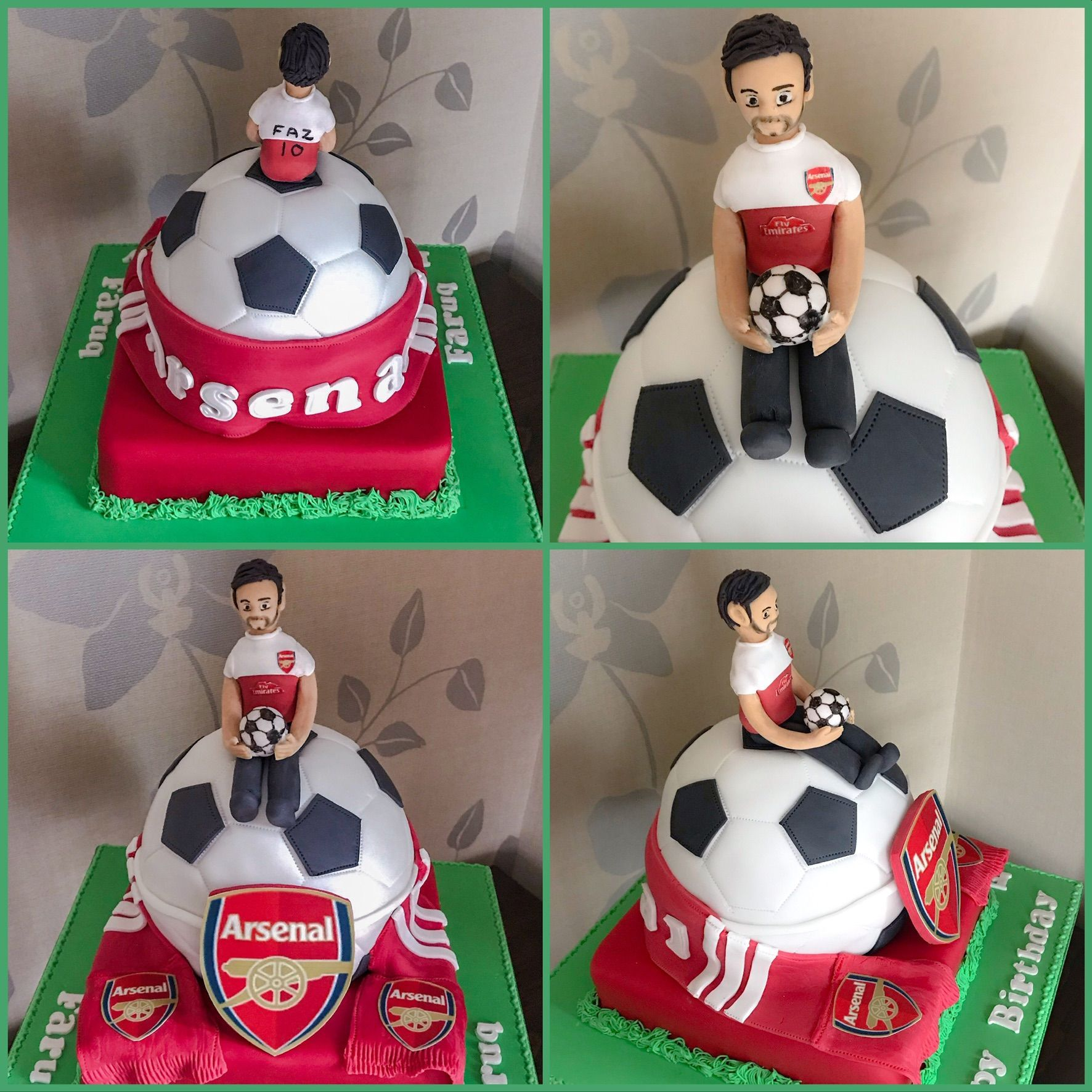 arsenal cake collage