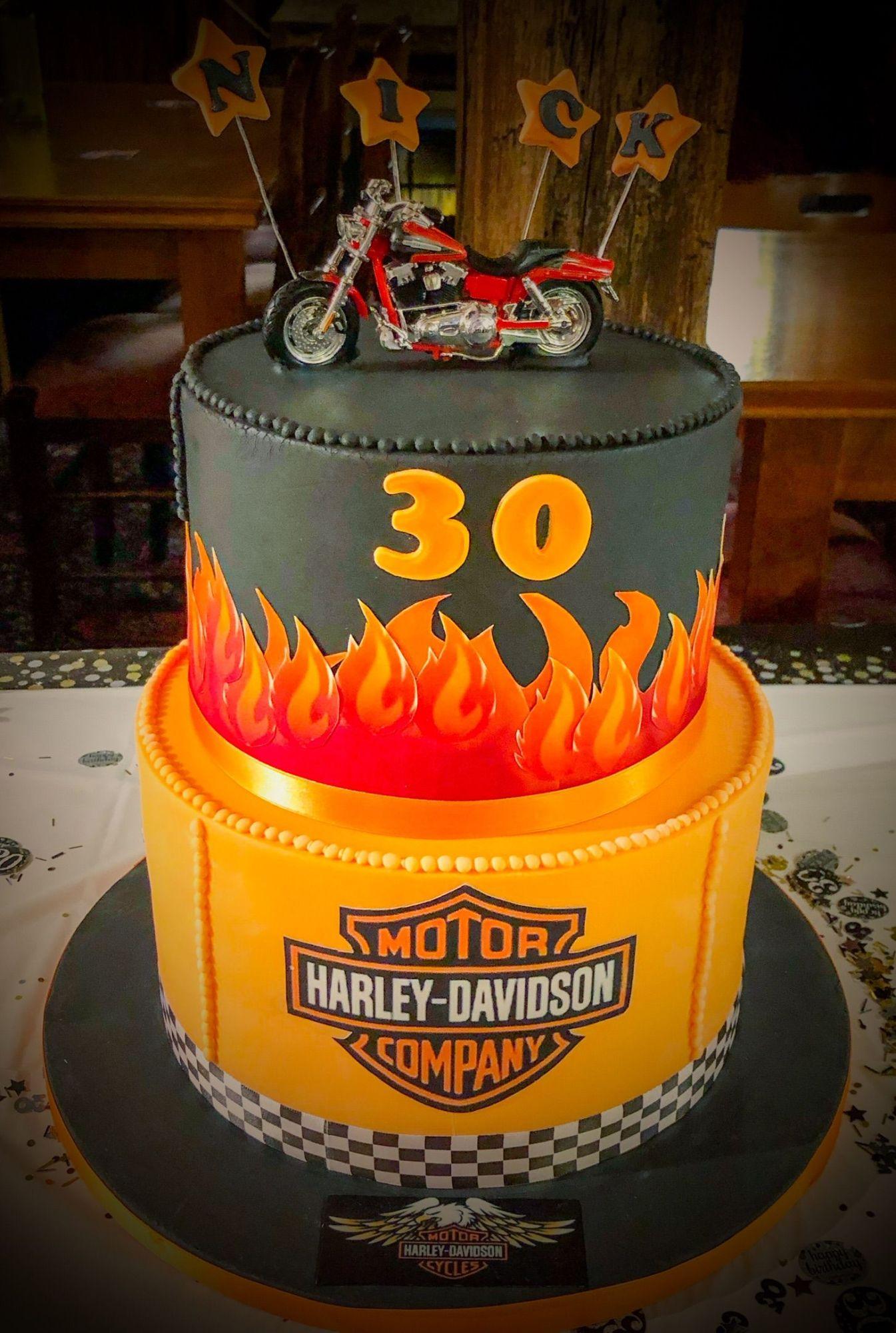harley davidson cake 1