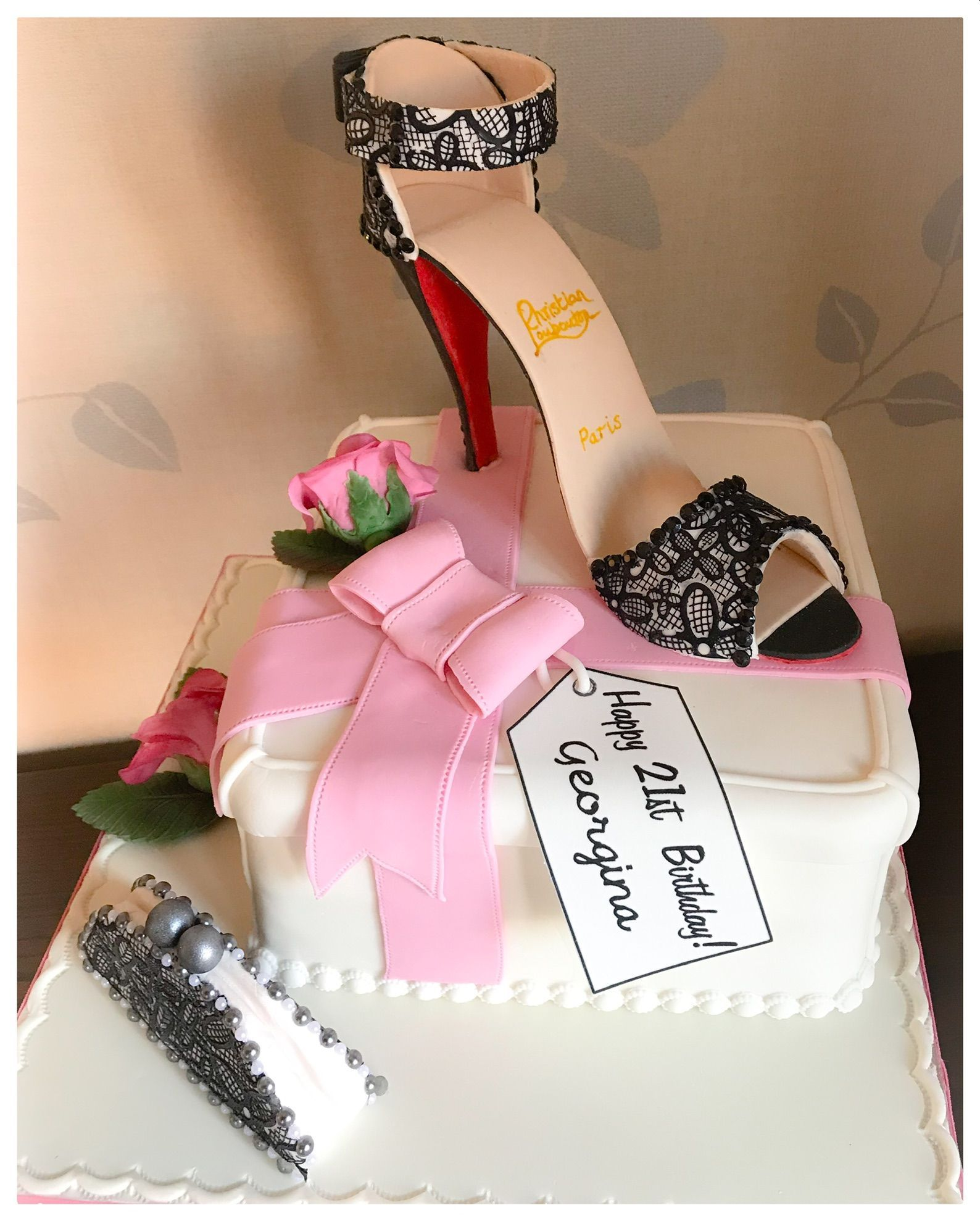 louiboutin 21st cake 2