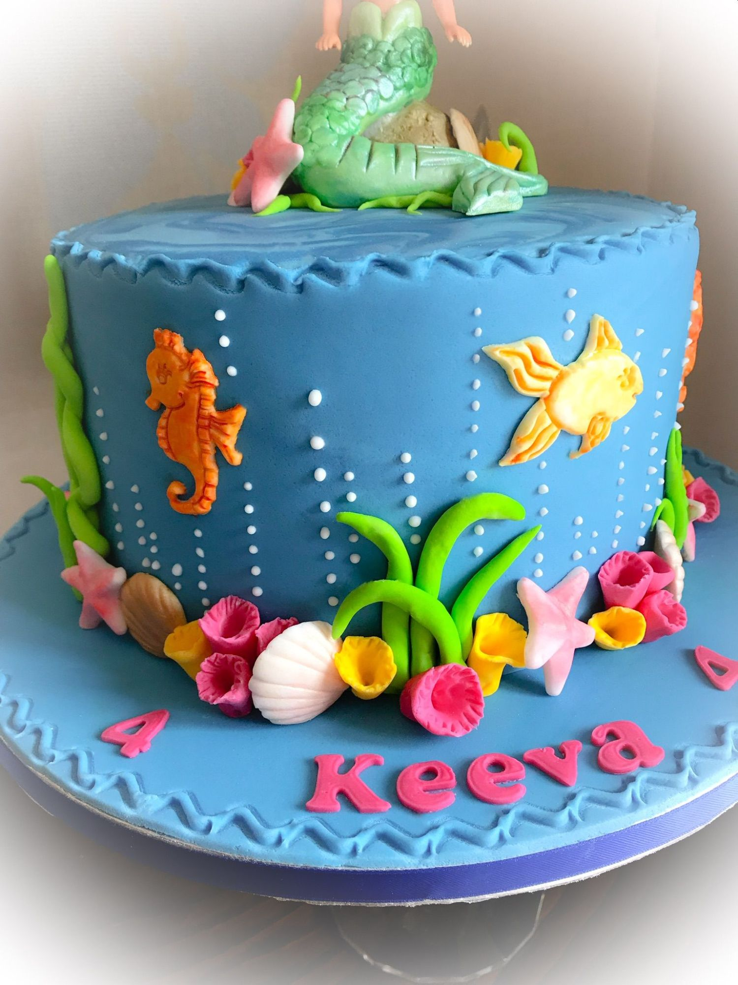 mermaid cake 1