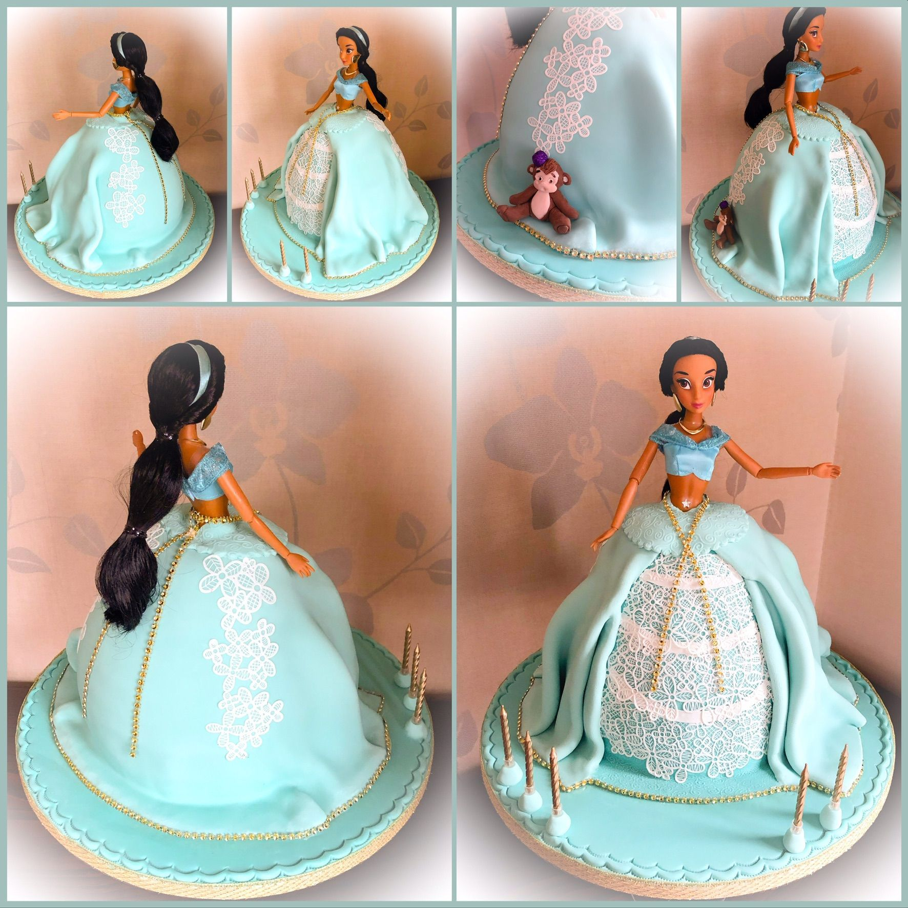 princess jasmine doll cake