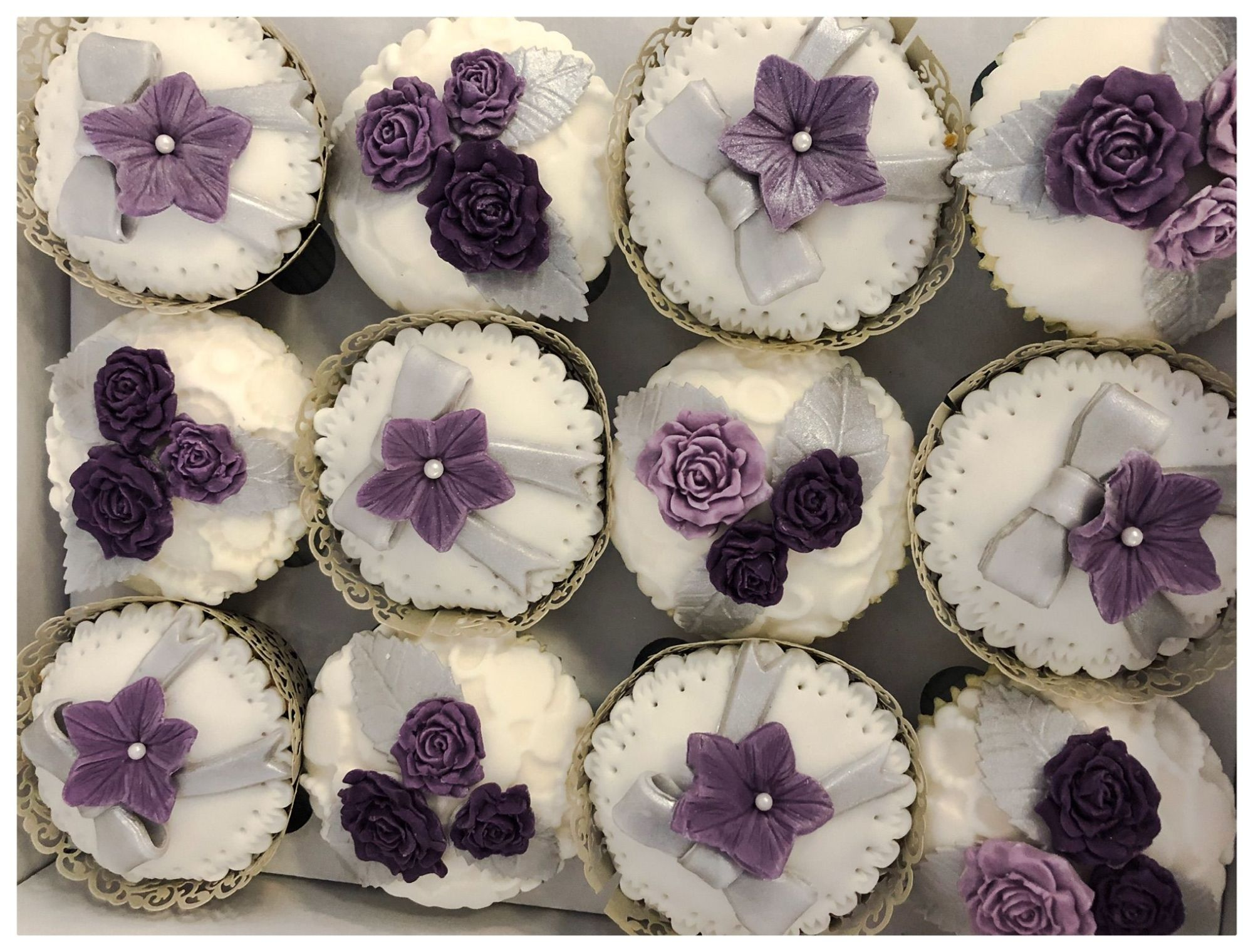 purple wedding cupcakes 2