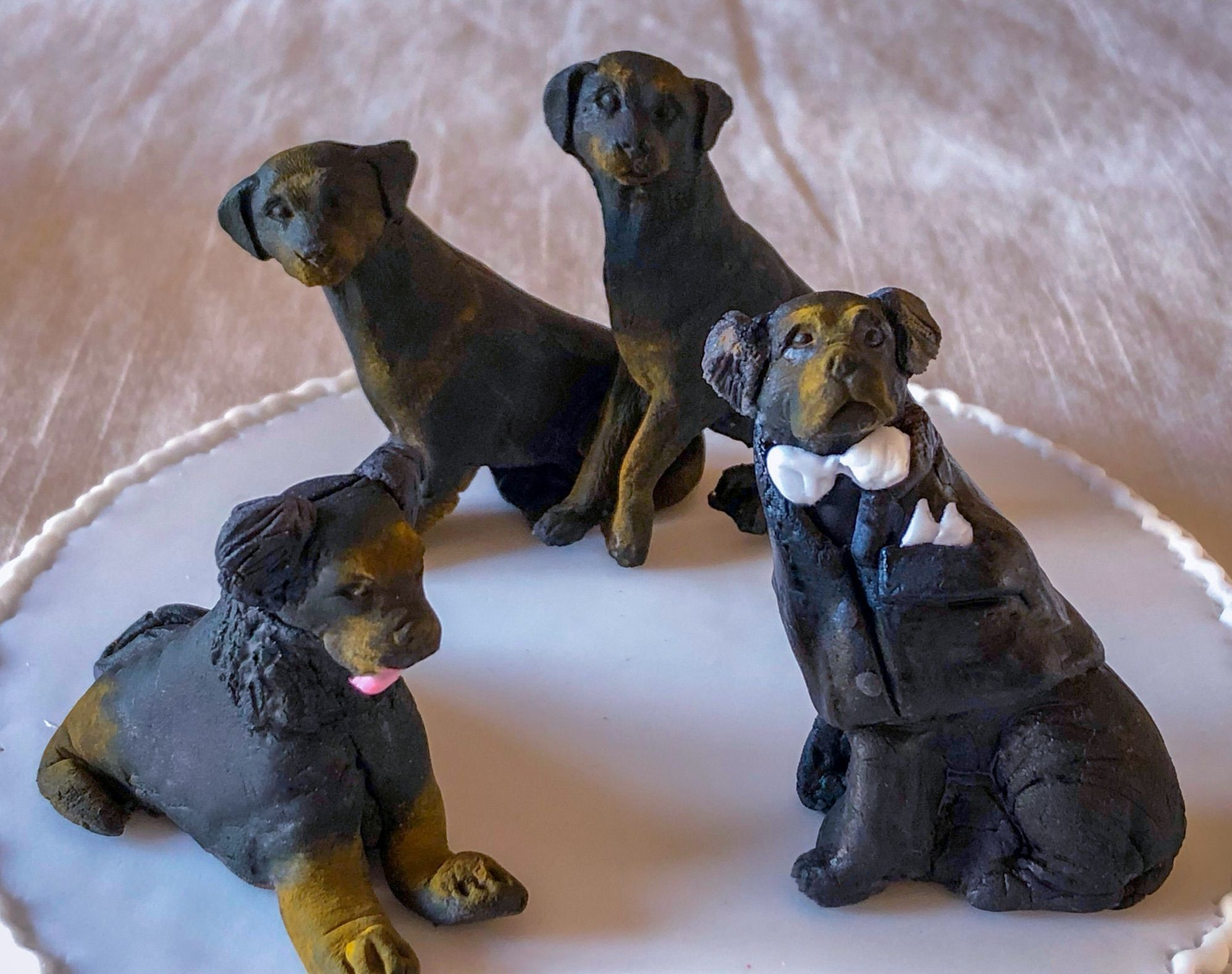 rottweiler wedding cake dogs