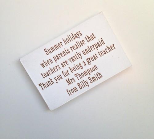 Summer Holidays Teacher Magnet