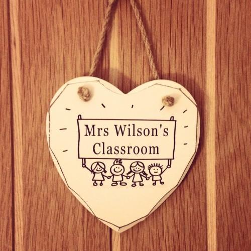 Teacher Classroom Shabby Chic Heart
