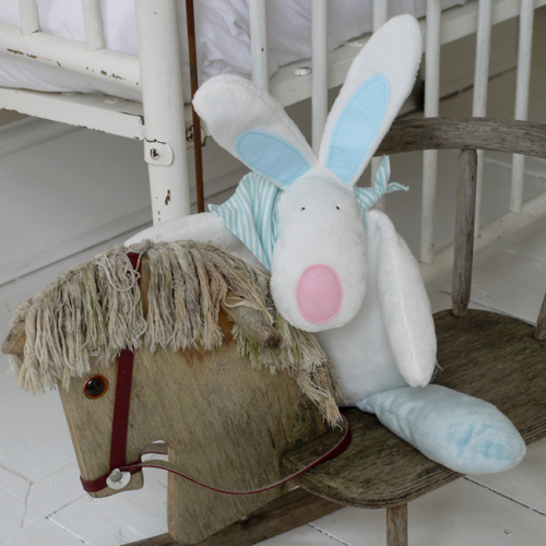 Plush Boy Rufus Rabbit & Bag