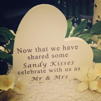 Sandy Kisses Wedding Sign