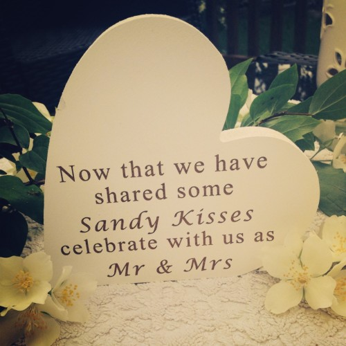 Sandy Kisses Wedding Sign