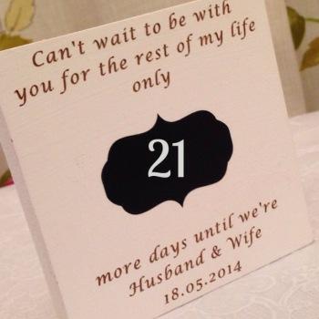 Husband & Wife Wedding Countdown