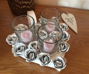 Heart Shaped Triple Tea Light Holder