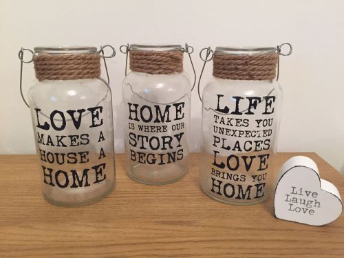 Slogan Jars - Set of 3