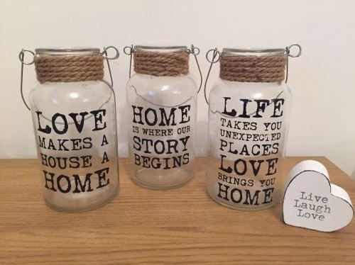 Slogan Jars - Set of 3