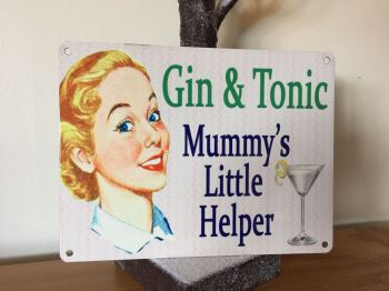 Mummy's Little Helper Tin Plaque