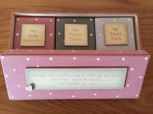 Girls Firsts Set Of 3 Boxes
