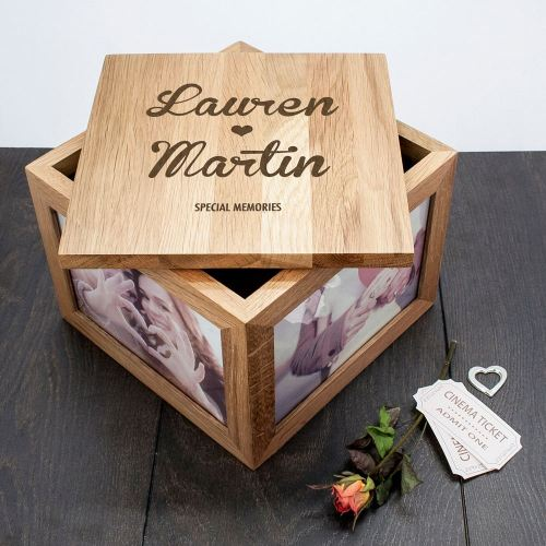 Couples Solid Oak Keepsake Box