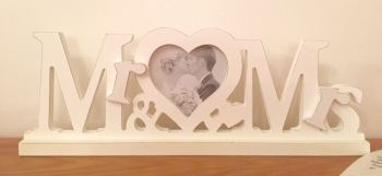 Cut out Mr & Mrs Photograph Frame