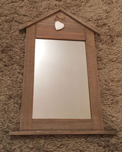 Rustic Style Mirror With Heart