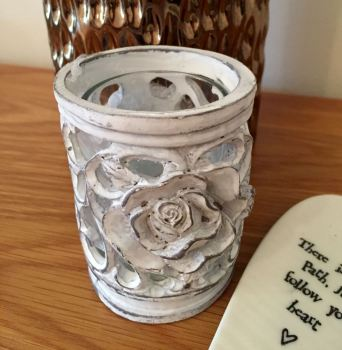 Ornate Rose Candle Holder