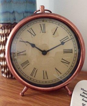 Copper Alarm Style Clock