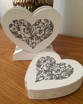 Oranate Heart Coasters