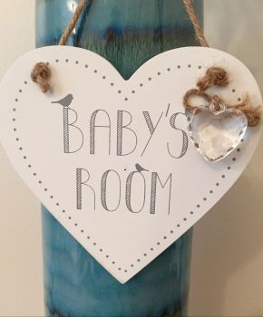 Baby's Room Hanging Heart