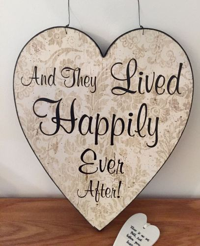 Giant Happily Ever After Hanging Heart