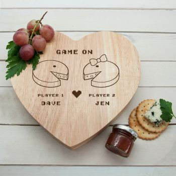 Retro Game On Couples Cheeseboard