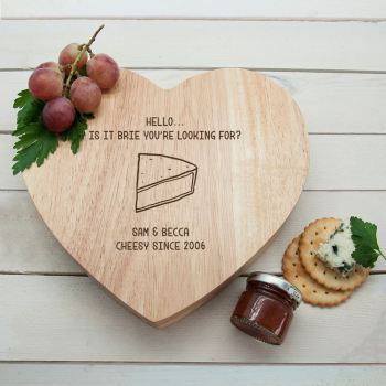 Is It Brie You're Looking For Heart Cheeseboard