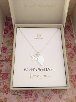 World's Best Mum Gift Card Necklace