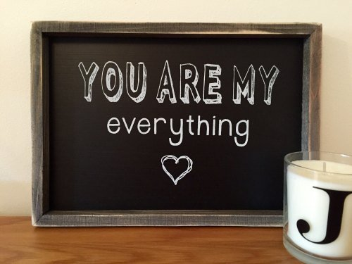 You Are My Everything Chalkboard Framed Picture