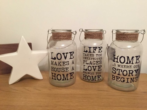 Large Slogan Jars - Set Of 3