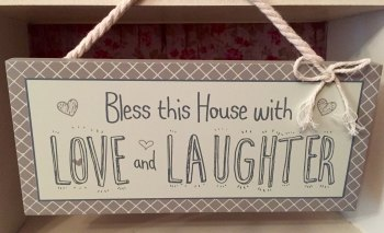'Love Life' Bless This House Plaque